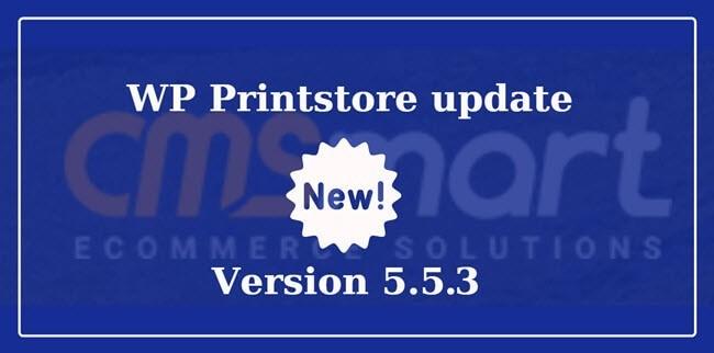 versio 5.3.3 of wp printstore
