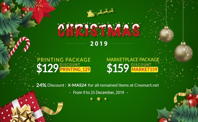 Merry Christmas & A Happy New Year 2019 on CMSmart