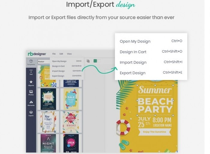 export design with woocommerce product online design plugin