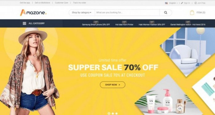 Magento marketplace theme integrated multivendor package