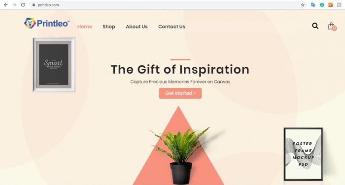 Website printleo.com is using WordPress printshop online design at Cmsmart