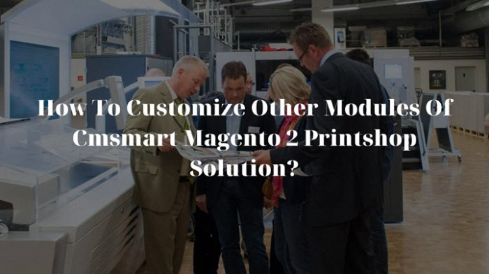 How To Customize Other Modules Of Cmsmart Magento 2 Printshop Solution?