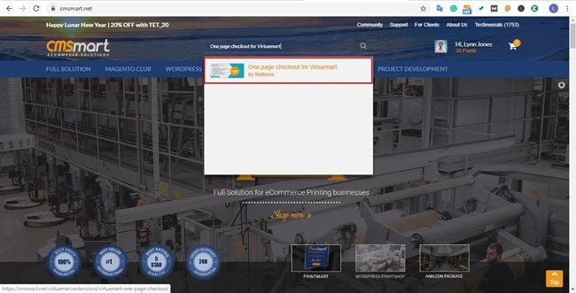 Find One Page Checkout on CMSmart