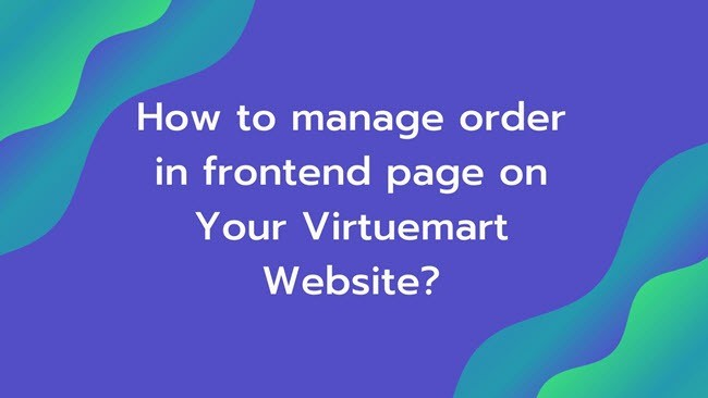 Manage order in frontend page