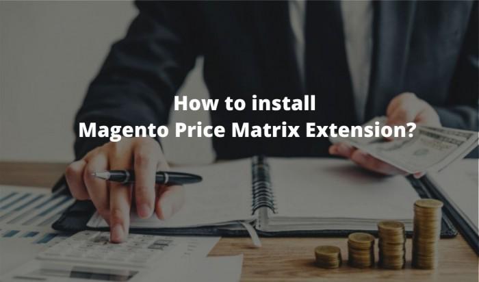 Magento Price Matrix Extension