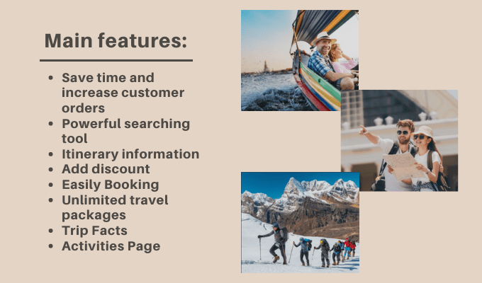 tour operator, Here are some of the powerful features of the WordPress Tour Operator Pro