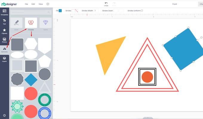 Geometric shape on modern layout