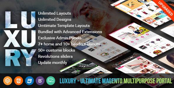 Luxury - Ultimate Multipurpose Magento Portal
