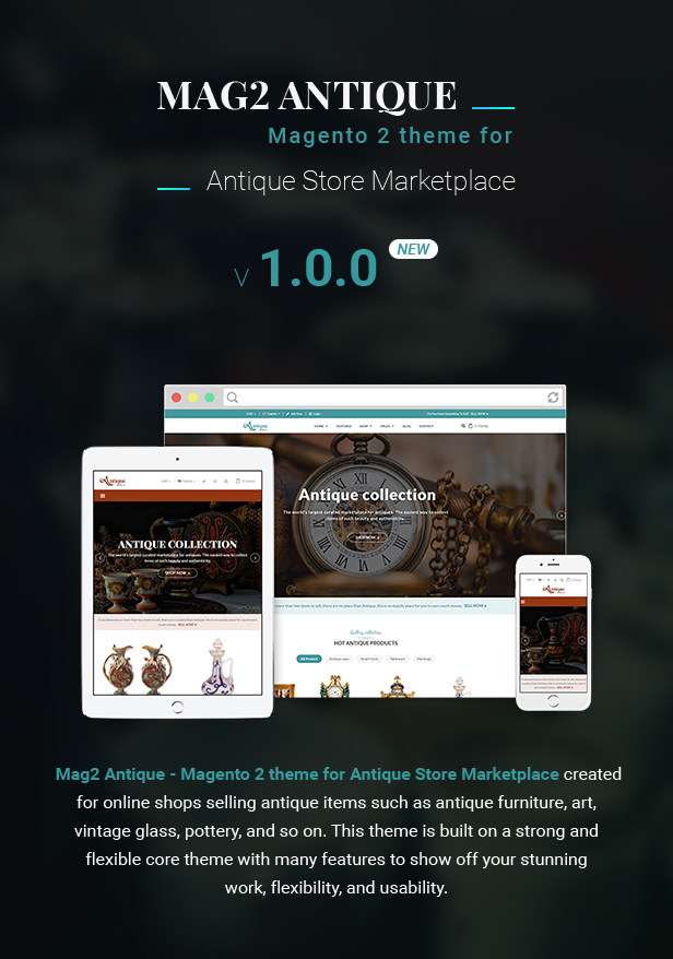 MagAntique Magento Theme For Antique Store Marketplace - Free printable invoice templates online antique store