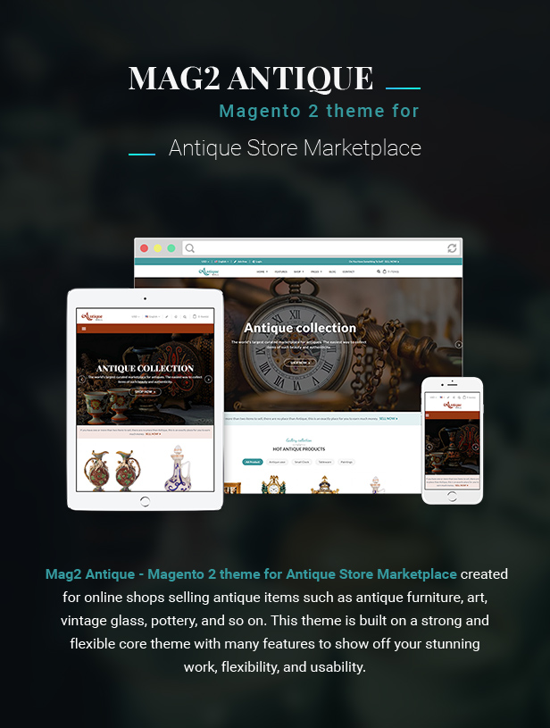 Mag2Antique - Magento 2 Theme for Antique Store Marketplace - 1