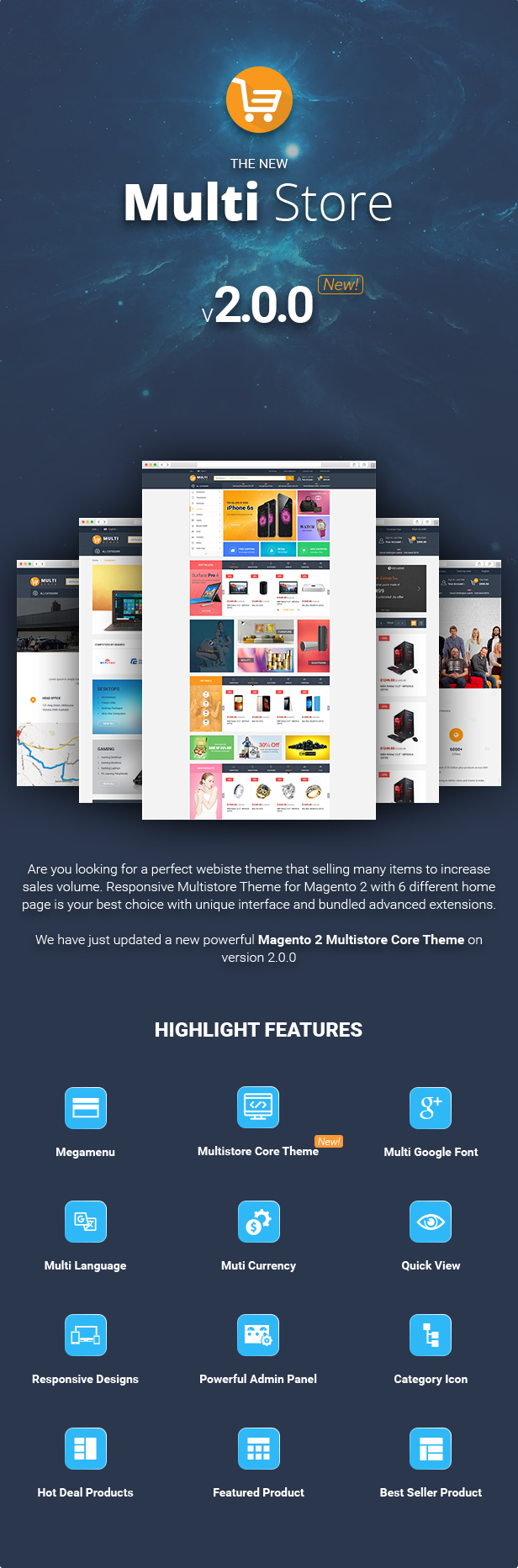 Reviews for MultiStores - Magento 2 Megashop Theme support Multiple Stores