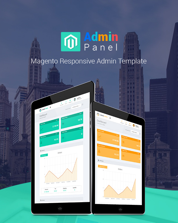 admin panel magento responsive admin template