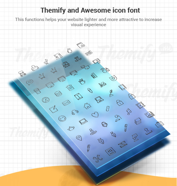 Themify and Awesome icon font