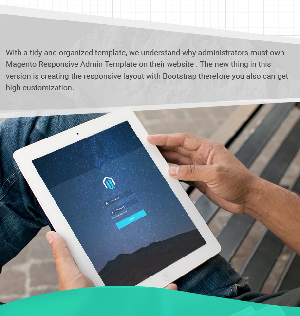 Magento Responsive Admin Template on their website