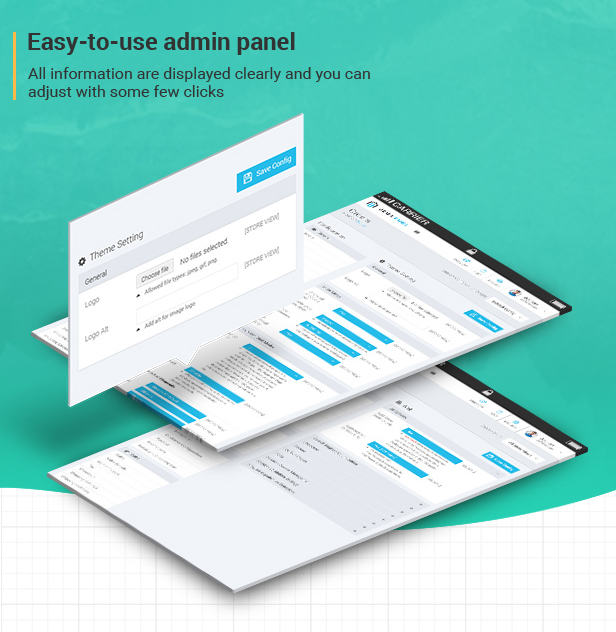 Easy-to-use admin panel