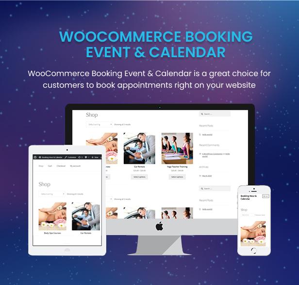 WooCommerce Booking Hours & Calendar - 2