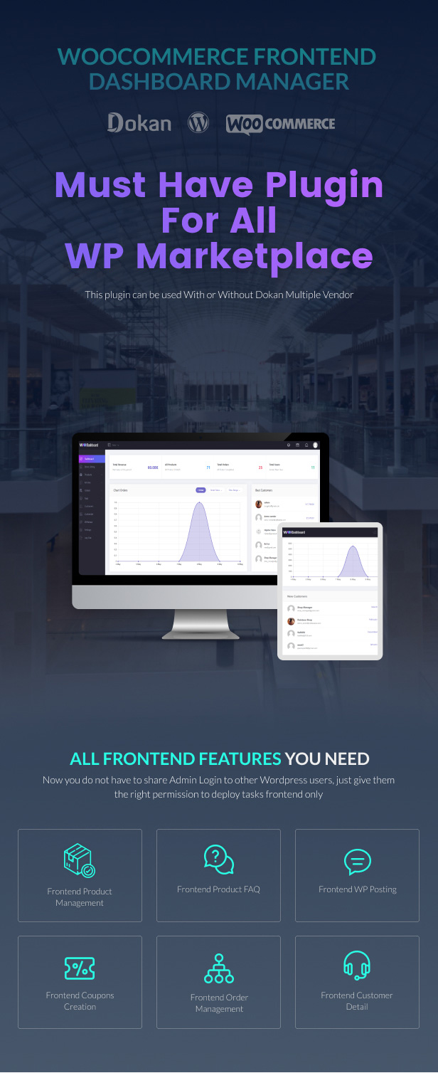 WooCommerce Frontend Dashboard Manager