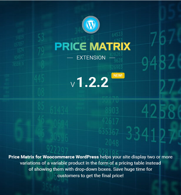 Flexible Pricing: Flexible Table Pricing Matrix For WooCommerce By Cmsmart