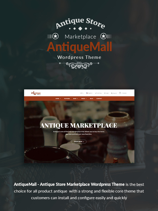 AntiqueMall - Antique Store Marketplace WordPress Theme - 5