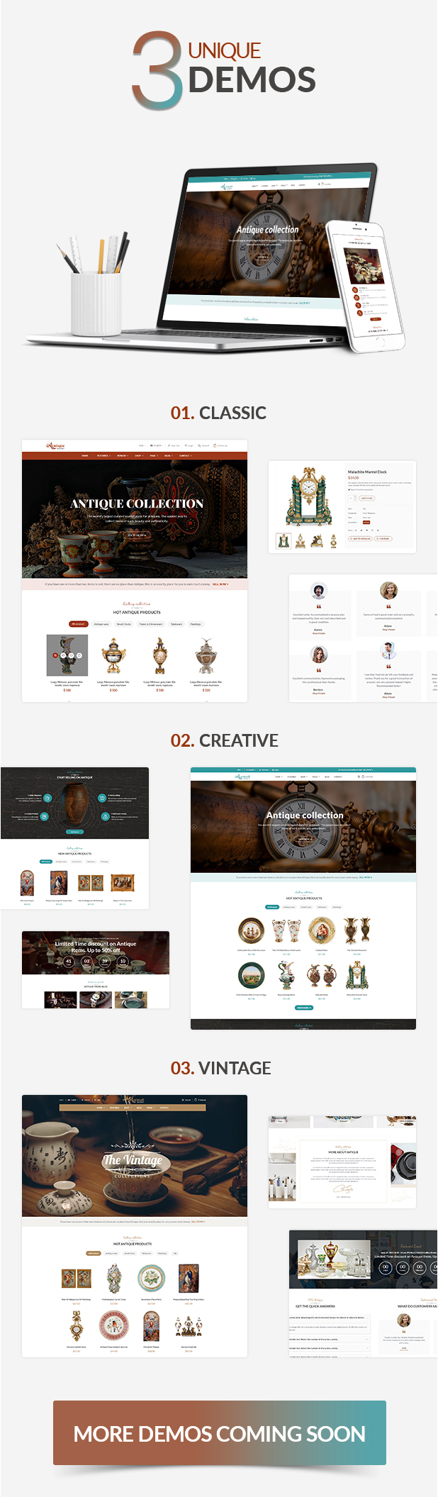AntiqueMall - Antique Store Marketplace WordPress Theme - 9
