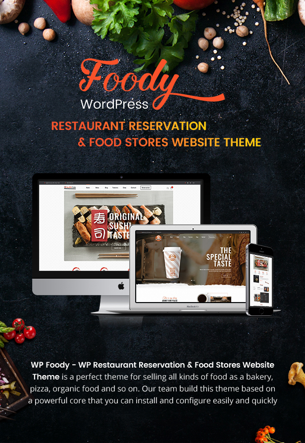 Foody - WordPress reserva de restaurante e loja de alimentos Website Theme - 6