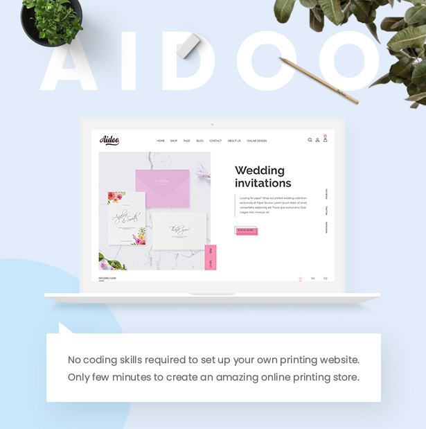 Aidoo - Wedding Card WooCommerce Theme - 6