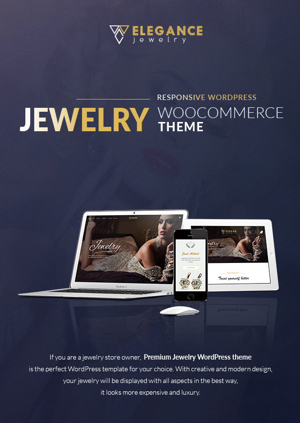 Elegance - Jewelry Responsive WordPress Woocommerce Theme - 1