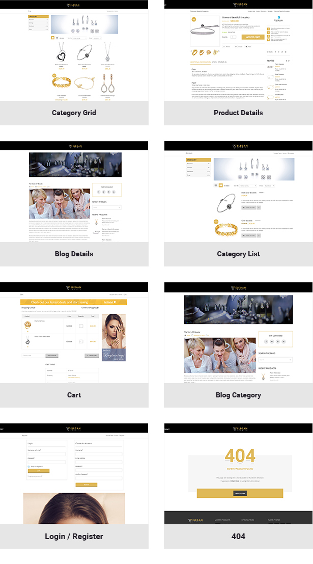 Elegance - Jewelry Responsive WordPress Woocommerce Theme - 4