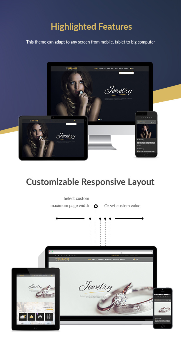 Elegance - Jewelry Responsive WordPress Woocommerce Theme - 8