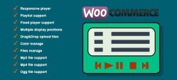 Responsive Music Player for WooCommerce