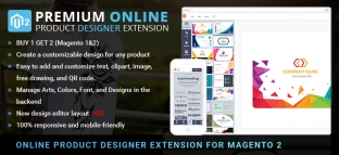 Premium Online Product Designer Extension for Magento 2