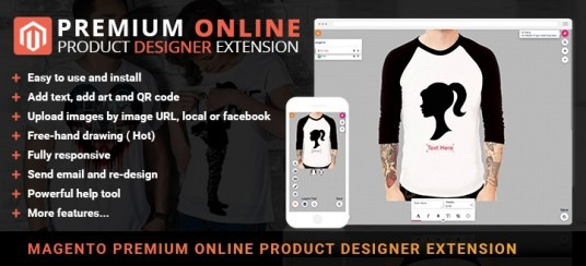 Magento Online Product Designer Extension