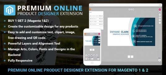 Premium Online Product Designer Extension for Magento 1 & 2
