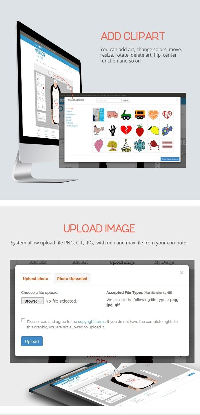 Magento Online Product Designer Extension