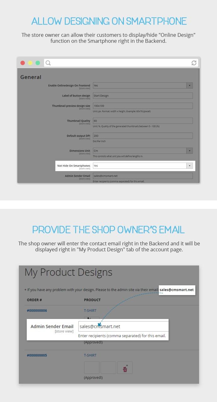 Premium Online Product Design Extension for Magento 2