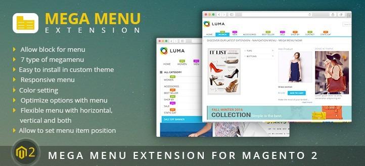 Mega Menu Extension for Magento 2