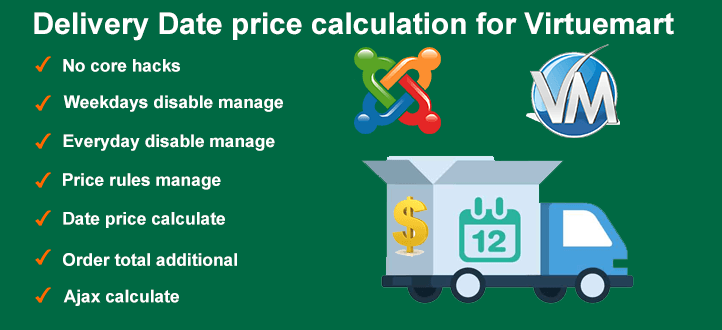 Delivery Date price calculation for Virtuemart