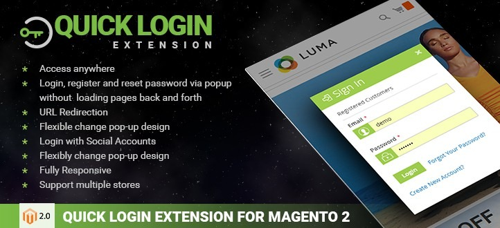Quick Login Extension for Magento 2