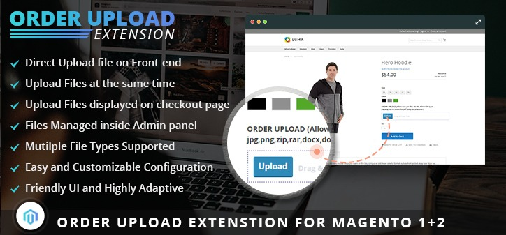 Order Upload Extension for Magento 2