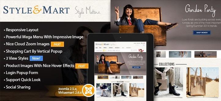Responsive Joomla Virtuemart Template StyleMart