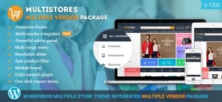 WP MultiStore | Wordpress Marketplace Theme Integrated Woocommerce Multi Vendor Packages [Premium]