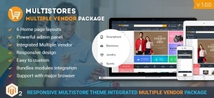 Multistore Marketplace Magento 2 Theme Integrated Multi-Vendor [Premium]
