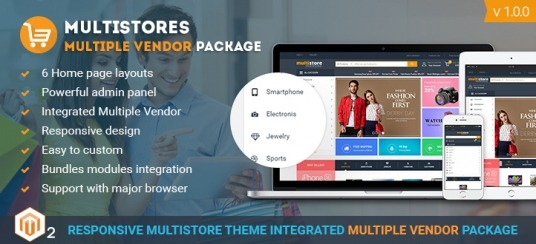 Magento 2 Marketplace Theme Package Integrated Multi Vendor | 8+ Marketplace Themes