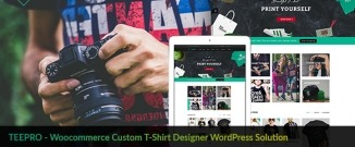 TEEPRO - Woocommerce Custom T-Shirt Designer WordPress Theme