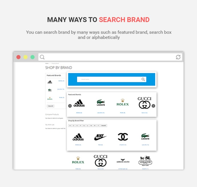 Shop By Brand Extension For Magento 2