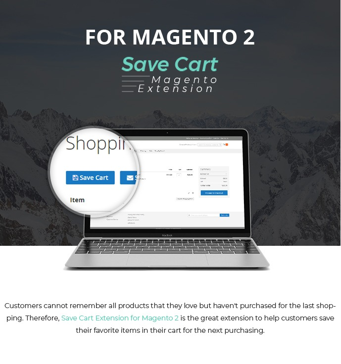 Save Cart Extension for Magento 2