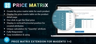 Price Matrix Extension for Magento 2