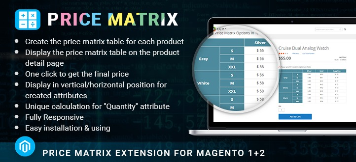 Price Matrix Extension for Magento 2