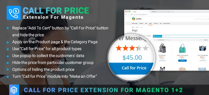 Call For Price Extension for Magento 2