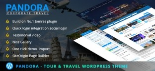 Travel WordPress Theme for Travel Agency with Tour Booking System | Pandora